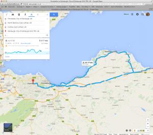Edinburgh to North Berwick to Dunbar to Edinburgh