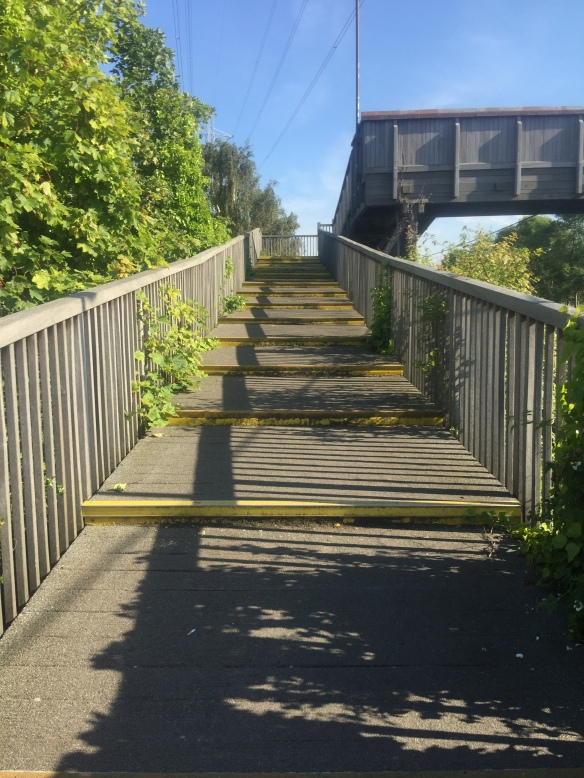 Bridge with steps at Brunstane station