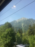 Photo of view of Rhône from train to Brig