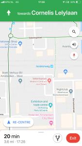 screenshot of map showing Isolatorweg
