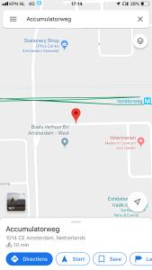 screenshot of map showing Amplifierweg