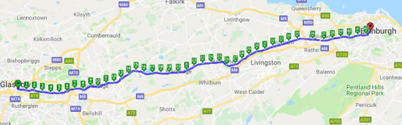 screenshot of route map